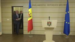 Conferință de presă susținută de Președintele Partidului Democrat din Moldova și deputat în Parlamentul Republicii Moldova, Pavel Filip