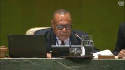 Intervenția Președintelui Ucrainei, Volodimir Zelensky, în cadrul dezbaterilor generale ale celei de-a 74-a sesiuni a Adunării Generale a Națiunilor Unite