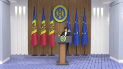 Briefing susținut de Prim-ministrul Republicii Moldova, Maia Sandu, pe tema justiției