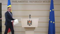 Conferință de presă susținută de către deputatul Partidului Democrat din Moldova, Andrian Candu