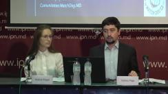 """Conferința de presă organizată de Comunitatea WatchDog.MD cu tema """"Prezentarea primului raport de monitorizare a reflectării campaniei electorale în presa TV"""""""