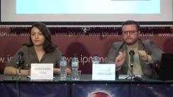 """Conferința de presă organizată de Centrul pentru Jurnalism Independent cu tema """"Elemente de propagandă, manipulare informațională și încălcare a normelor deontologiei jurnalistice în spațiul mediatic autohton"""" (1 iulie – 30 septembrie 2019)"""