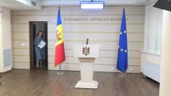 Conferință de presă susținută de deputata Blocului ACUM Platforma DA, Arina Spătaru, despre proiectul de lege cu privire la statutul municipiului Bălți
