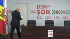 Briefing susținut de candidatul Partidului Politic ȘOR la funcția de Primar General al mun. Chișinău, Valerii Klimenco