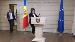 Conferință de presă susținută de Vicepreședintele Parlamentului Republicii Moldova, Monica Babuc