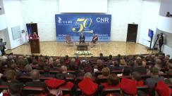 Ședința omagială a aniversării a 50 de ani de învățământ superior la Sibiu