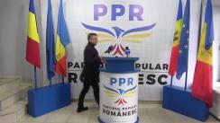 Conferință de presă susținută de candidatul Partidului Popular Românesc la funcția de primar al municipiului Chișinău, Vlad Țurcanu