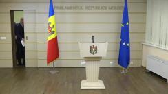 Briefing susținut de Președintele Partidului Democrat din Moldova, Pavel Filip
