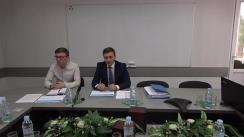 """Conferință de presă susținută de directorul general al Î.S. """"Administrația de Stat a Drumurilor"""", Gheorghe Curmei, privind derularea contractelor finanțate din surse externe"""