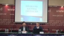 """Conferința de presă organizată de Comunitatea WatchDog.MD si CBS-AXA cu tema """"Prezentarea rezultatelor sondajului de opinie: Omnibus pre-electoral - 2: Chișinău 2019"""""""