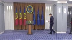 """Conferință de presă susținută de Secretarul General al Guvernului, Andrei Spînu, cu tema """"Planul Guvernului privind asigurarea suportului necesar pentru buna organizare a alegerilor din 20 octombrie 2019"""""""