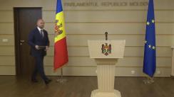 Conferință de presă susținută de deputatul Partidului Democrat din Moldova, Vladimir Cebotari, privind Comisia de anchetă pentru elucidarea circumstanțelor de fapt și de drept privind tentativa de puci anticonstituțional