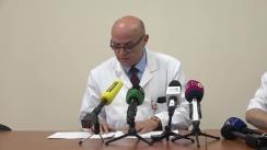 Briefing susținut de reprezentanții Spitalului de Urgență privind starea pacienților în urma accidentului de la Buiucani