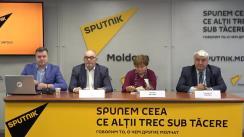 """Conferința de presă cu tema """"Care este viitorul Chișinăului: perspectivele de dezvoltare ale capitalei Moldovei"""""""