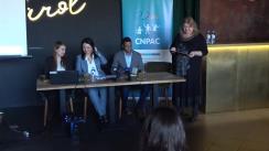 """Club de presă organizată de Centrul de Investigații Jurnalistice în colaborare cu Centrul Național de Prevenire a Abuzului față de Copii la tema """"Abuzul sexual față de copii: dimensiunea fenomenului și implicarea statului în soluționarea problemei"""""""