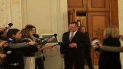 Declarațiile lui Mihai Răzvan Ungureanu după ședința în comun a Camerei Deputaților și Senatului