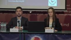 """Conferința de presă organizată de Comunitatea WatchDog.MD cu tema """"Prezentarea celui de-al doilea raport de monitorizare a reflectării campaniei electorale în presa TV"""""""