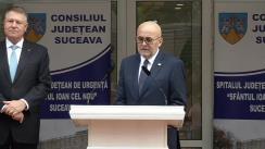 """Inaugurarea Ambulatoriului integrat de specialitate al Spitalului Județean de Urgență """"Sfântul Ioan cel Nou"""" din Suceava"""