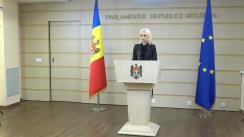 Briefing susținut de deputata Partidului Politic ȘOR, Marina Tauber