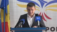 Conferință de presă susținută de Candidatul Partidului Popular Românesc la funcția de primar al municipiului Chișinău, Vlad Țurcanu, în legătură cu acțiunea de judecată împotriva sa, orchestrată de PSRM pe ultima sută de metri de campanie, cu intenția de a fi exclus din cursa electorală
