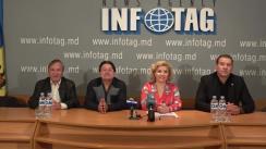 """Conferință de presă susținută de un grup de oameni de cultură și artă din Republica Moldova cu tema """"Despre situația din țară"""""""