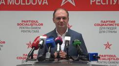 Briefing susținut de Ion Ceban imediat după închiderea secțiilor de votare