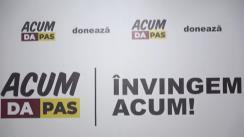 Briefing de presă susținut de candidatul Blocului ACUM la funcția de primar general al municipiului Chișinău, Andrei Năstase