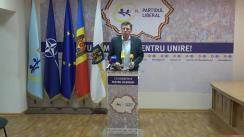 """Briefing de presă susținut de președintele Partidului Liberal, Dorin Chirtoacă, cu tema """"Poziția Partidului Liberal cu privire la turul II al alegerilor locale"""""""