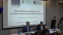 """Eveniment festiv de desemnare a primilor beneficiari ai Programului de granturi din cadrul Proiectului """"Dezvoltarea societății civile la nivel local în Republica Moldova"""""""