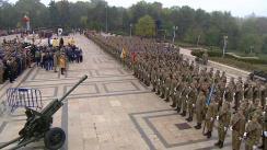 Ceremonie organizată cu prilejul Zilei Armatei României în Parcul Carol