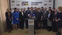Conferință de presă susținută de candidatul Blocului ACUM Platforma DA și PAS la funcția de primar general al municipiului Chișinău, Andrei Năstase