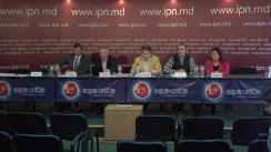 """Conferința de presă organizată de IDEP Moldova și Moldova Vrea Autostradă cu tema """"Foaia de parcurs a proiectului autostrăzii Ungheni-Chișinău-Odesa și accesarea fondurilor nerambursabile europene"""""""
