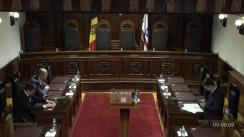 Ședința Curții Constituționale de examinare a sesizării privind confirmarea rezultatelor alegerilor parlamentare noi în circumscripțiile electorale uninominale nr. 17, nr. 33, nr. 48 și nr. 50 din 20 octombrie 2019 și validarea mandatelor deputaților aleși