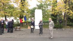 Festivitatea de amplasare în curtea Academiei Române a unei bucăți din Zidul Berlinului