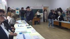 Alegeri 2019: Exprimarea votului de către candidatul Partidului Socialiștilor din Republica Moldova la funcția de primar al municipiului Chișinău, Ion Ceban