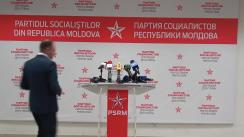 Briefing susținut de candidatul PSRM pentru funcția de primar general al municipiului Chișinău, Ion Ceban, după închiderea secțiilor de votare