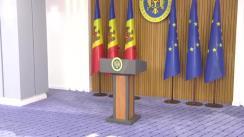 Briefing de presă susținut de Prim-Ministrul Republicii Moldova, Maia Sandu
