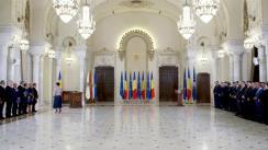 Ceremonia de depunere a jurământului de învestitură a membrilor Guvernului condus de Ludovic Orban
