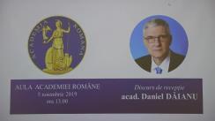 """Discursul de recepție """"Drumul spre cunoaștere. Facerea unui economist"""" al academicianului Daniel Dăianu"""