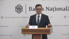 """Briefing susținut de guvernatorul Băncii Naționale a Moldovei, Octavian Armașu, la temele """"Raportul asupra inflației nr. 4""""  și """"Consolidarea sectorului bancar"""""""