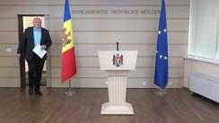 Conferință de presă susținută de fracțiunea PSRM față de intenția de anulare a concursului pentru funcția de procuror general