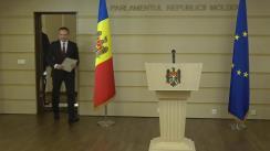 Briefing susținut de deputatul Partidului Democrat din Moldova, Andrian Candu
