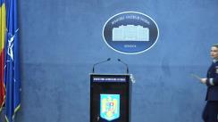 Declarație de presă susținută de purtătorul de cuvânt al MAI, comisar-șef de poliție Monica Dajbog, privind activitățile desfășurate de structurile ministerului pentru buna desfășurare a alegerilor pentru Președintele României din 10 noiembrie 2019