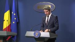 Conferință de presă după ședința Guvernului României din 13 noiembrie 2019