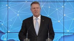 Declarație de presă susținută de Klaus Iohannis