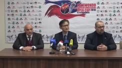 Conferință de presă susținută de E.S. Kwon Ki Chang, Ambasadorul Coreei de Sud în Moldova, privind desfășurarea Cupei Ambasadorului Coreei de Sud la Taekwondo WT 2019