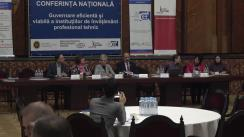 """Conferința națională """"Guvernare eficientă și viabilă a instituțiilor de învățământ profesional tehnic"""""""