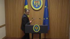 Declarațiile Prim-ministrului Republicii Moldova, Ion Chicu, și a Ministrului Justiției, Fadei Nagacevschi, după ședința Guvernului Republicii Moldova din 19 noiembrie 2019