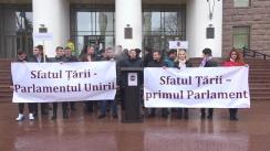 Flashmob organizat de Partidul Unității Naționale dedicat aniversării a 102 ani de la crearea Sfatului Țării