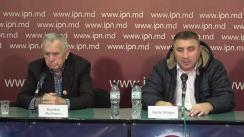 """Conferința de presă organizată de """"Dacii Liberi"""" cu tema """"În UTA Găgăuzia se construiește în secret un aeroport militar care va fi folosit de avioane militare rusești"""""""